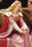 """Edmund Blair Leighton, """"Tristan und Isolde"""", detail (1902)"""